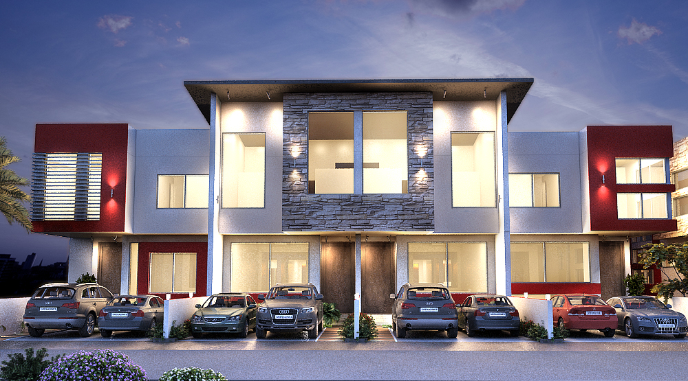 Grenadines lekki peninsula luxury 3 bed terraces duplexes for Modern fourplex designs