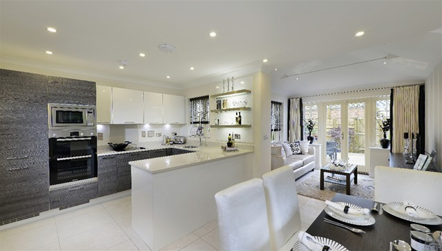 Deluxe 3 bed penthouse duplex apartment aldgate london for Open plan kitchen diner living room ideas