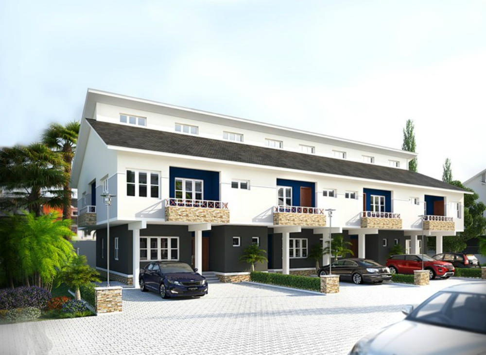 3 bedroom meridian park terrace duplex awoyaya lekki for Three bedroom duplex