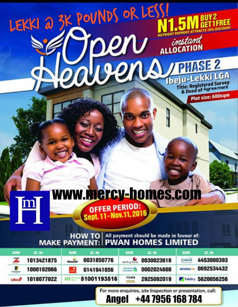 Lekki Land for Sale at Open Heavens Estate