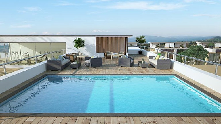 Acasia grand deluxe 5 bed townhouse for Rooftop swimming pool